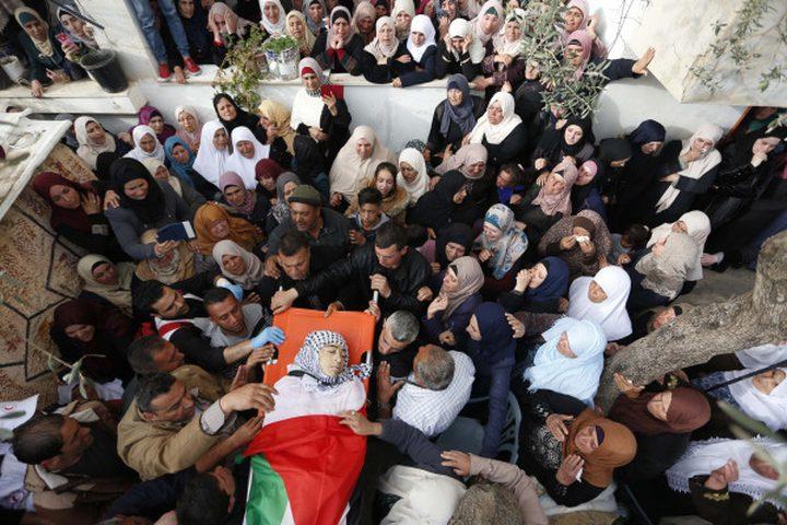 تشييع جثمان الشهيد حمايل إلى مثواه الأخير في بلدة بيتا جنوب نابلس