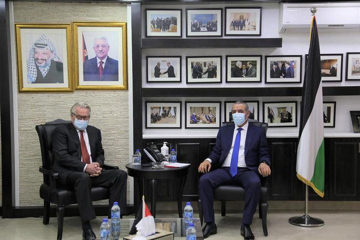 الشيخ يبحث مع المبعوث الأوروبي آخر المستجدات وملف إعمار غزة