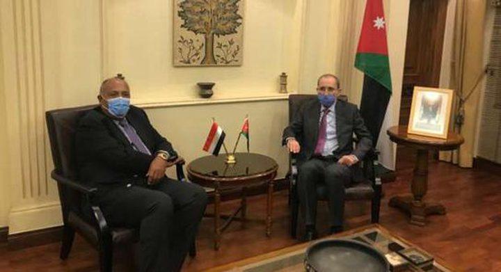 اتفاق مصري أردني على جهود إعادة الإعمار وتثبيت التهدئة