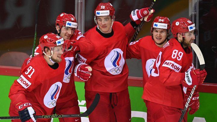 روسيا تتأهل إلى ربع نهائي بطولة العالم لهوكي الجليد