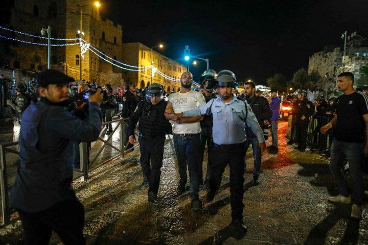 اعتقال 5 شبان قرب باب العامود بالقدس المحتلة