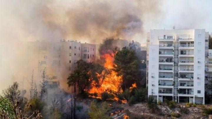 إجلاء 400 عائلة بسبب حريق ضخم جنوب غرب القدس