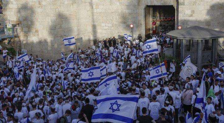 """الاحتلال يوافق على إعادة """"مسيرة الأعلام"""" الخميس المقبل"""