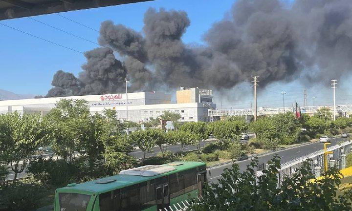 24 اصابة بحريق في مصنع للمواد الغذائية في إيران