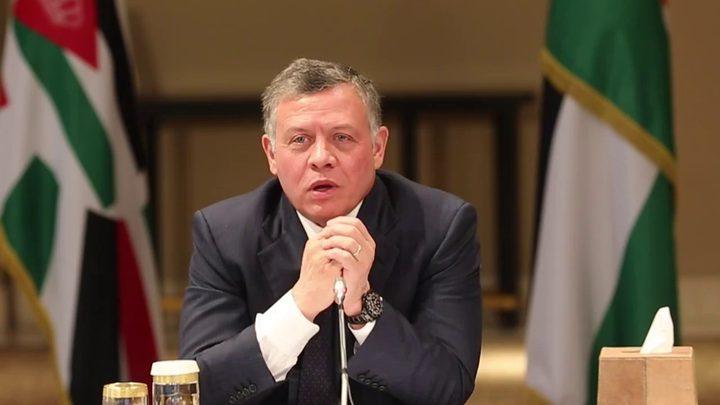 العاهل الأردني يؤكد استمرار المملكة بتقديم الدعم للفلسطينيين