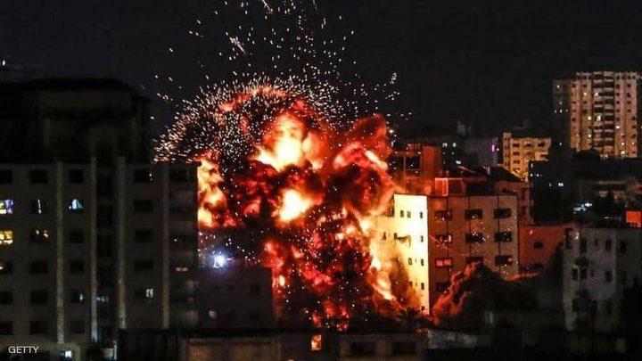 طائرات الاحتلال الحربية تقصف مواقع للمقاومة بقطاع غزة