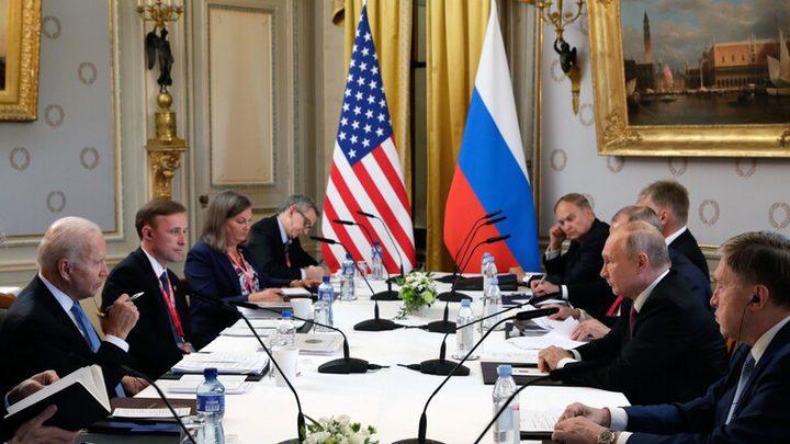 اختتام المحادثات بين الرئيسين بوتين-بايدن في جنيف
