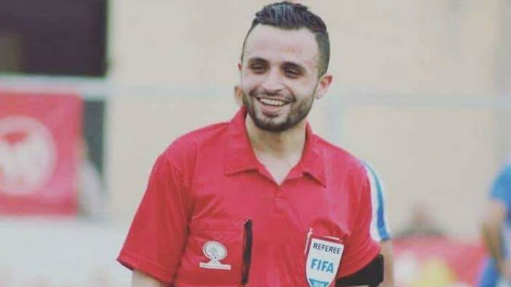 براء أبو عيشة يشارك في تحكيم مباريات بطولة كأس العرب للشباب