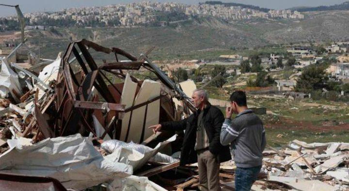 الخليل: الاحتلال يهدم غرفتين زراعيتين