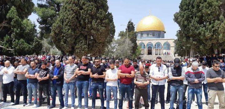 40 ألف مصلٍ يؤدون صلاة الجمعة في باحات المسجد الأقصى