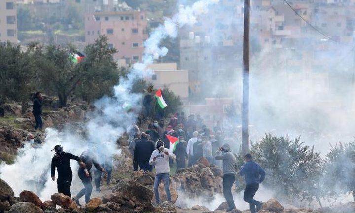 إصابة شاب برصاص قوات الاحتلال جنوب نابلس