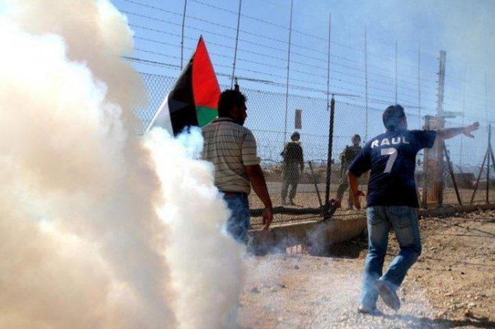 إصابات خلال قمع الاحتلال لتظاهرة سلمية في نعلين