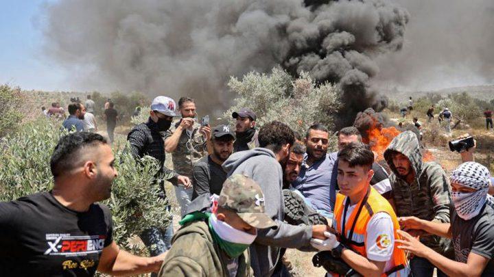 قوات الاحتلال تقمع وقفة منددة بالاستيطان في مسافر يطا