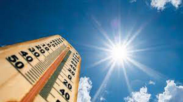 الطقس:كتلة هوائية حارة تؤثر على البلاد