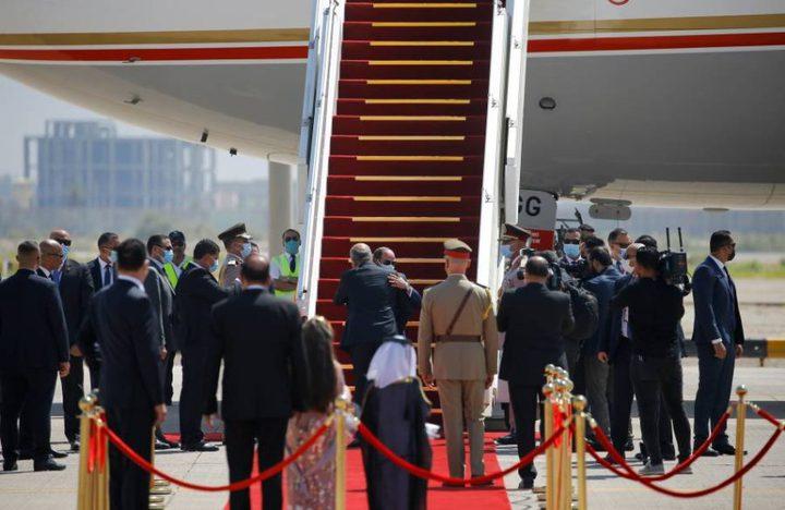 السيسي يصل إلى بغداد للمشاركة في القمة الثلاثية