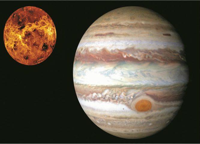 دراسة جديدة تفجر مفاجأة حول كوكبي المشتري والزهرة