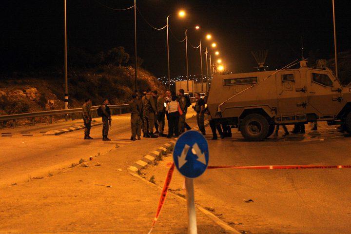 قوات الاحتلال تنصب حاجزا عسكريا جنوب جنين