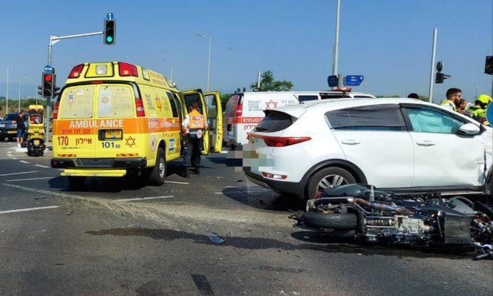مصرع سائق دراجة نارية بحادث طرق