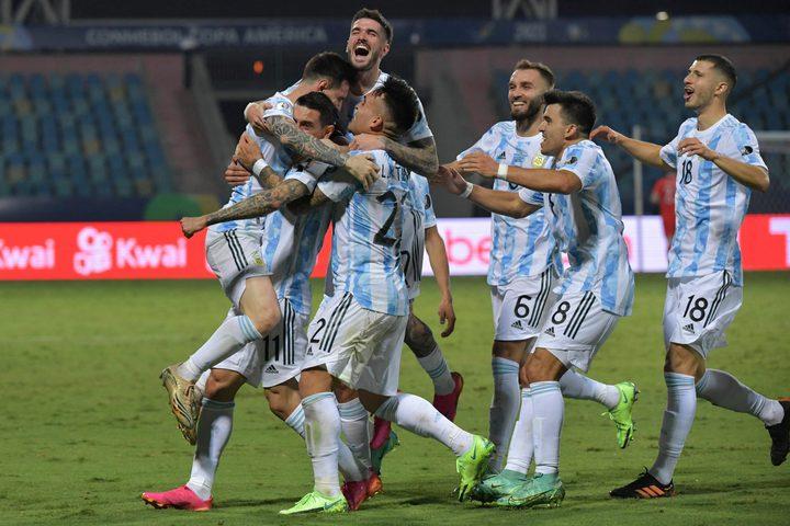 الأرجنتين تتأهل لنصف نهائي كوبا أمريكا