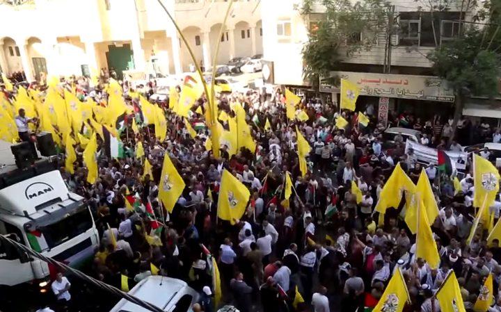 عشرات الآلاف يشاركون في مسيرة جماهيرية نصرة للأسرى