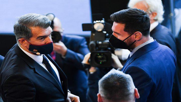 رئيس برشلونة في مأزق كبير بسبب ميسي