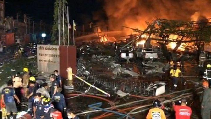 تايلاند:  انفجار في مصنع كيميائيات يسفر عن اصابة 20 شخصا