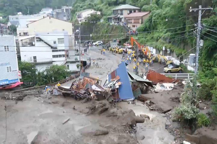 اليابان. 24 مفقودا في انهيارات أرضية لم يتم العثور عليهم بعد