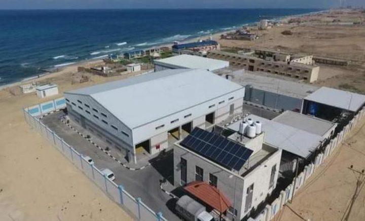 إعادة تشغيل محطة تحلية مياه البحر شمال القطاع بعد توقفها لأيام