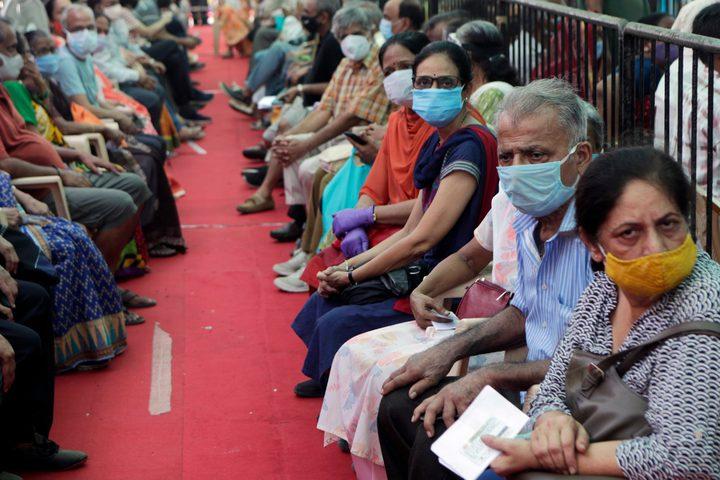 الهند تسجل 45892 إصابة جديدة بكوفيد-19 و817 وفاة