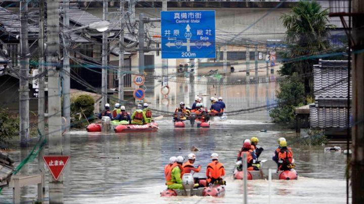 اليابان تطلب إخلاء أكثر من 120 ألف ساكن بسبب هطول أمطار غزيرة