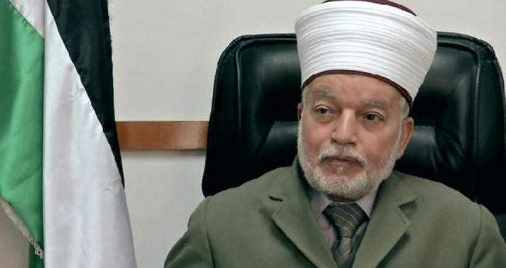 المفتي يعلن أن عيد الأضحى المبارك يوم الثلاثاء 20 تموز الجاري