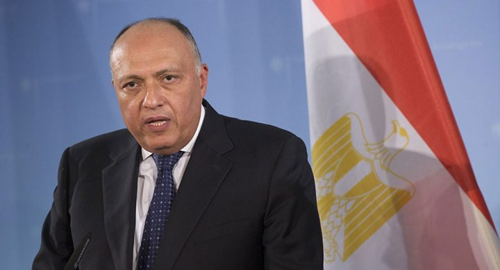 وزير الخارجية المصري في بروكسل لبحث تطورات ملف سد النهضة الإثيوبي