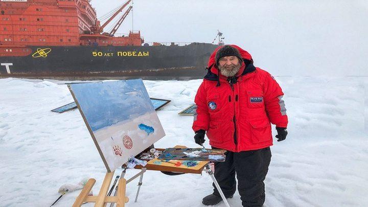 بعثة علمية إلى القطب الشمالي على متن كاسحة نووية