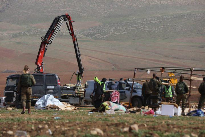 الاحتلال يهدم مساكن في حمصة الفوقا ويشرد سكانها