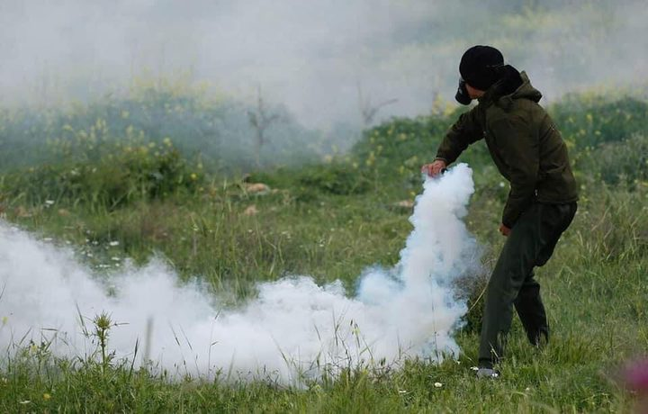 إصابات خلال قمع الاحتلال فعالية ضد الاستيطان غرب سلفيت