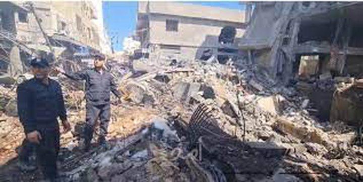 """""""المنظمات الأهلية"""" تطالب بإجراء تحقيق بانفجار سوق الزاوية في غزة"""