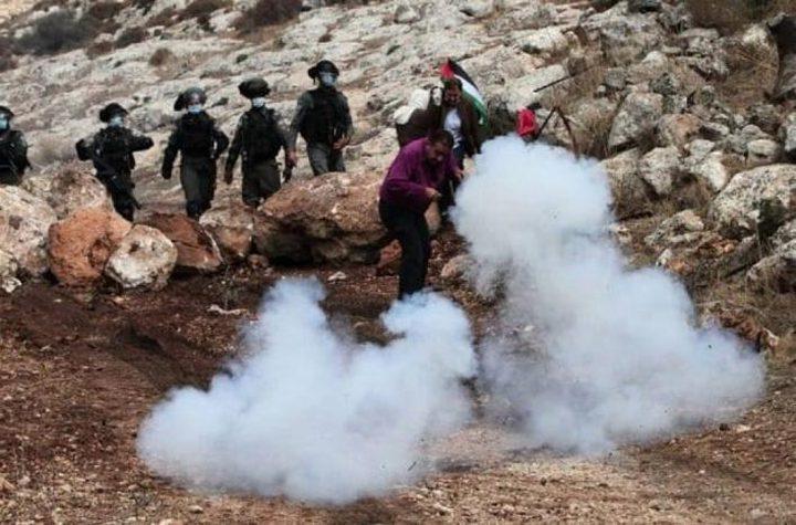 إصابات بالرصاص خلال مواجهات مع الاحتلال في بيت دجن شرق نابلس