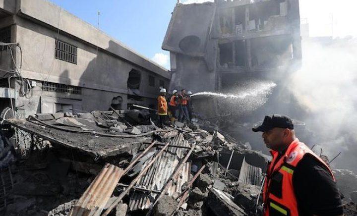 مركز حقوقي يكشف تفاصيل انفجار سوق الزاوية وسط غزة