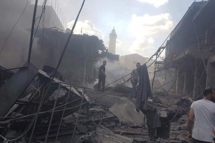 الهيئة المستقلة تطالب بكشف المسؤولين عن انفجار سوق الزاوية بغزة