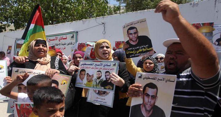 وقفة اسناد مع الأسرى المضربين عن الطعام في الخليل