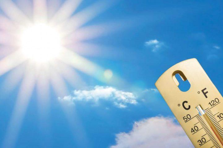 حالة الطقس: استمرار موجة الحر وارتفاع درجات الحرارة