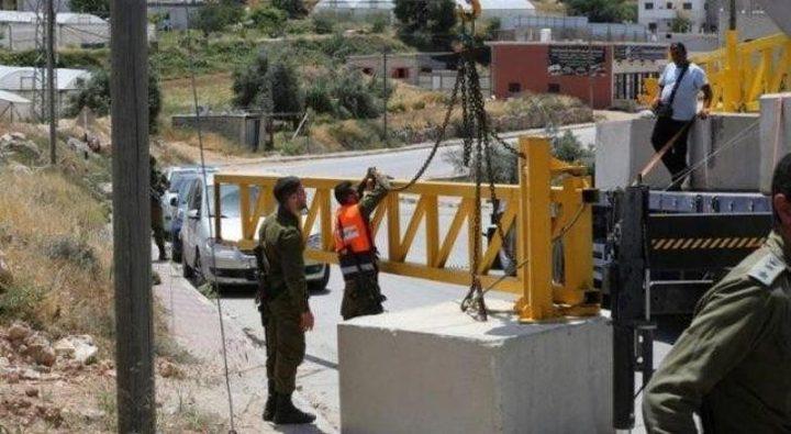 الاحتلال ينصب بوابة حديدية شرق بيت لحم