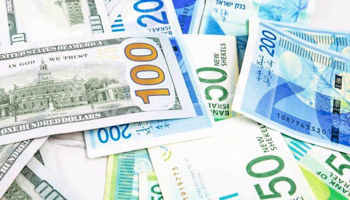 أسعار صرف العملات مقابل الشيقل ليوم الإثنين