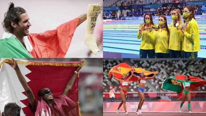 """ميداليات أولمبياد """"طوكيو 2020"""" بعد منافسات يوم الاثنين"""