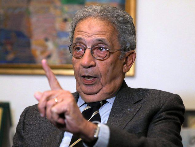 عمرو موسى يقدم استقالته كرئيس لمجلس أمناء مؤسسة ياسر عرفات