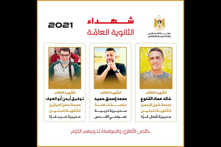 شهداء الثانوية العامة للعام 2021