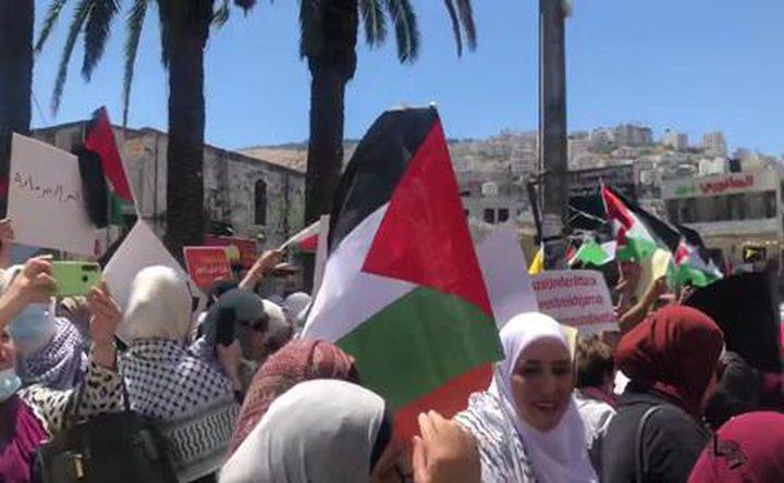 وقفة دعم اسناد مع الأسير خالد دراغمة في طوباس