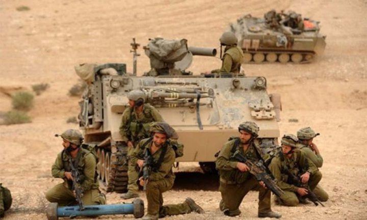 الاحتلال الإسرائيلي يجري مناورة عسكرية شرق قطاع غزة