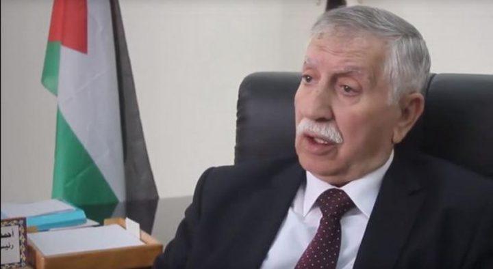 التميمي يطلع مسؤولًا مصريًا على انتهاكات الاحتلال بحق شعبنا