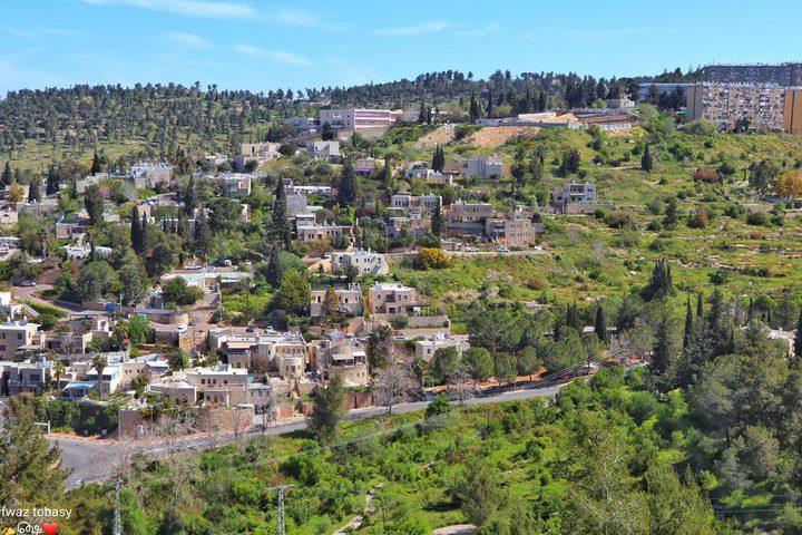 قرية عين كارم جنوب غرب مدينة القدس عدسة : فواز طوباسي
